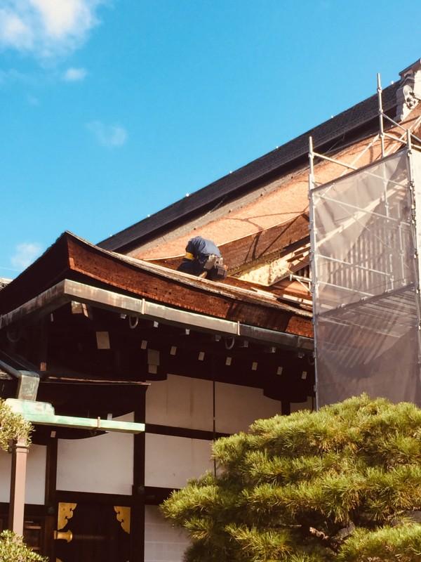 2018.11.25京都御所屋根改修